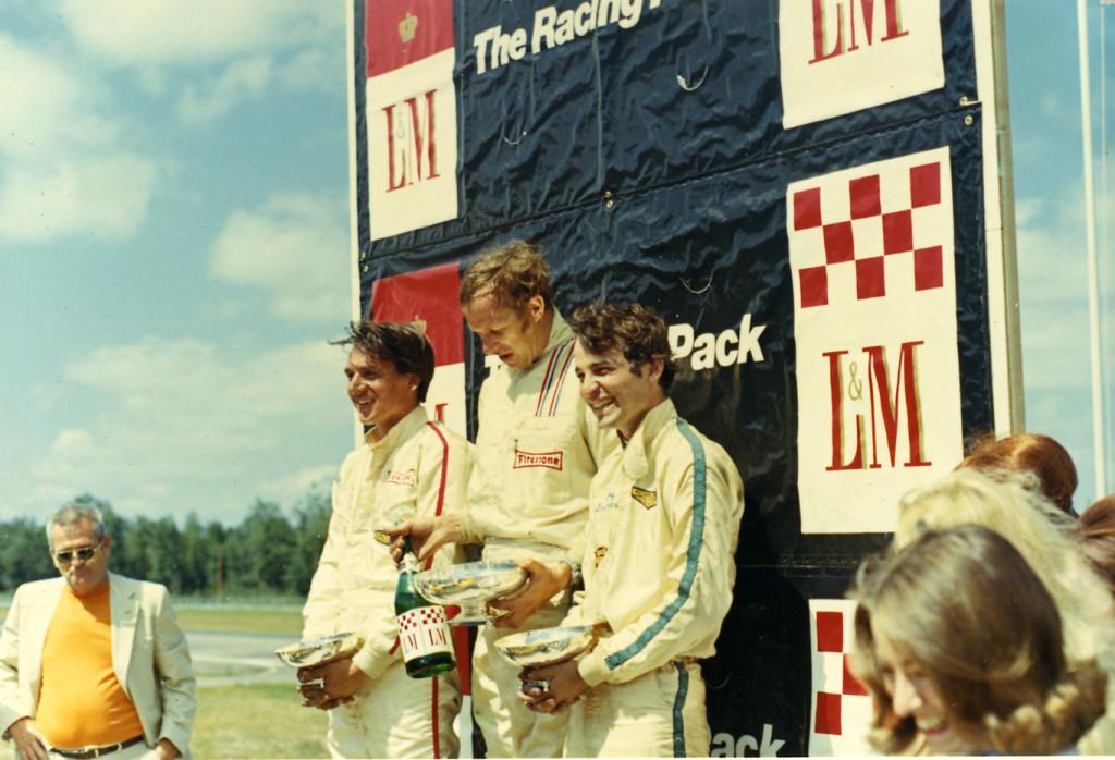 Douglas on podium at Brainard International Raceway Minnesota